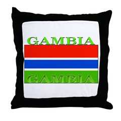 Gambia Gambian Flag Throw Pillow