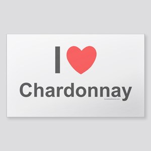 Chardonnay Sticker (Rectangle)