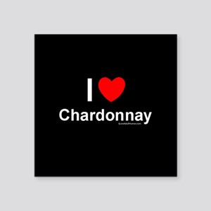 "Chardonnay Square Sticker 3"" x 3"""