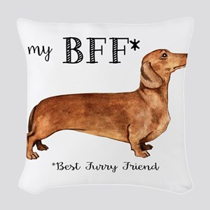 Dachshund Woven Throw Pillow