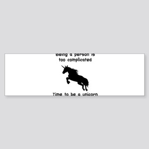 Unicorn time Bumper Sticker
