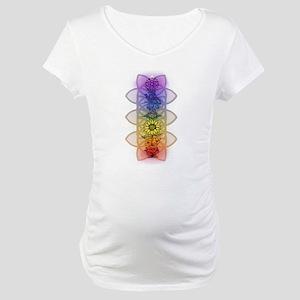 Chakra Flowers Maternity T-Shirt