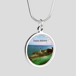 Nassau lighthouse Silver Round Necklace