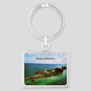 Nassau lighthouse Landscape Keychain