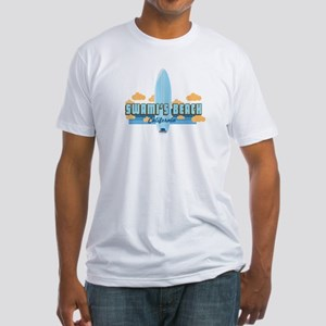 Swami's Beach. Fitted T-Shirt
