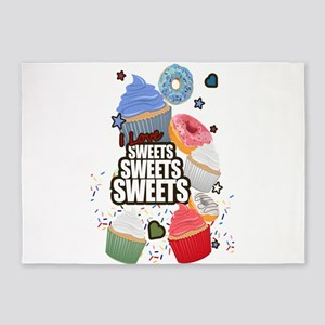 I love Sweets Sweets Sweets 5'x7'Area Rug