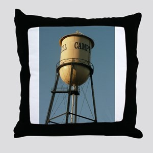 Campbell water tower Campbell Califor Throw Pillow
