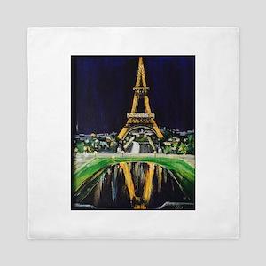 Eiffel Tower by Night! Queen Duvet
