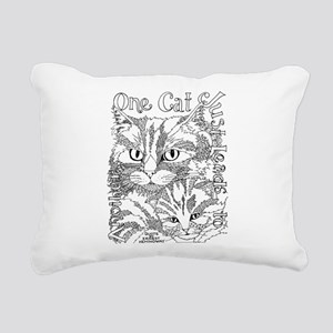 One cat- Hemingway Rectangular Canvas Pillow