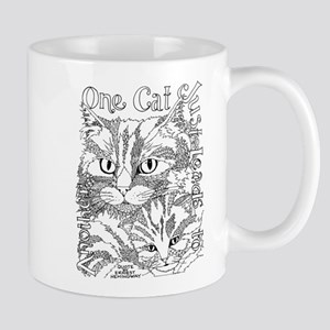 One cat- Hemingway Mugs