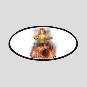 Flaming Skeleton Drumer Set 1 Patch