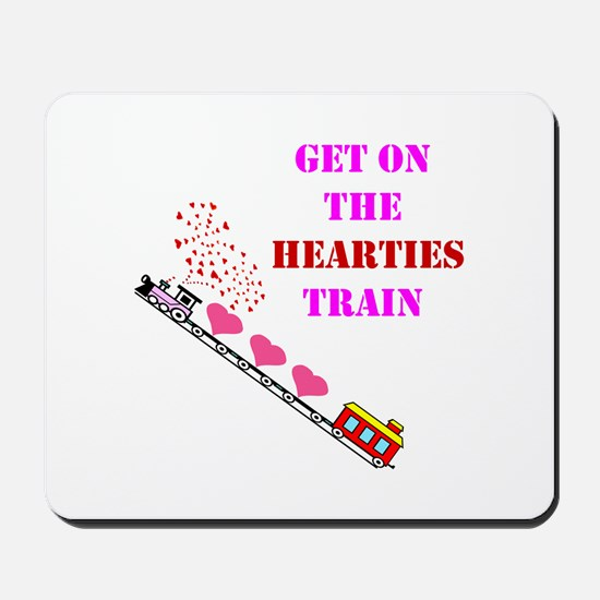 Get on the Heartie Train Mousepad