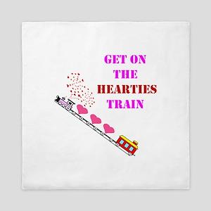Get on the Heartie Train Queen Duvet