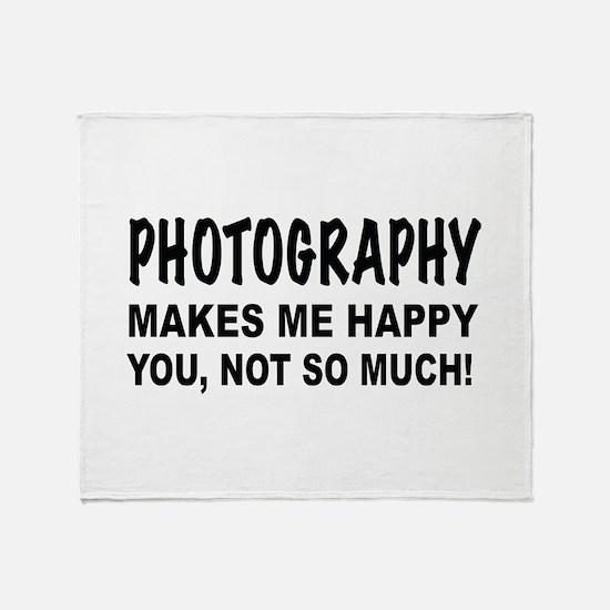 Cute Photography Throw Blanket