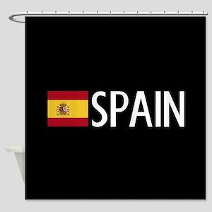 Spain: Spanish Flag & Spain Shower Curtain