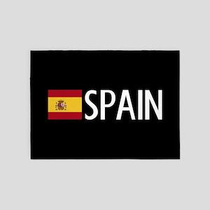 Spain: Spanish Flag & Spain 5'x7'Area Rug