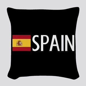 Spain: Spanish Flag & Spain Woven Throw Pillow