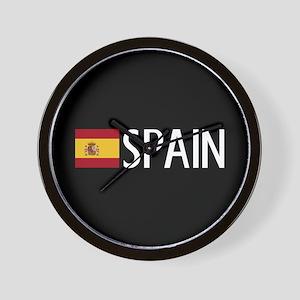 Spain: Spanish Flag & Spain Wall Clock