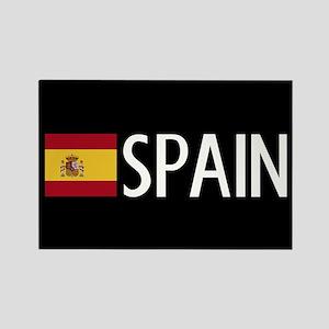 Spain: Spanish Flag & Spain Rectangle Magnet
