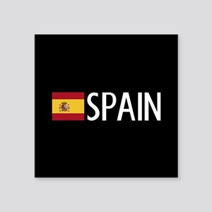 "Spain: Spanish Flag & Spain Square Sticker 3"" x 3"""