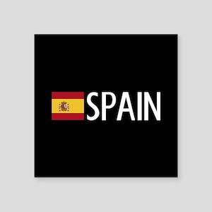 "Spain: Spanish Flag & Spain Square Sticker 3"" x 3"""