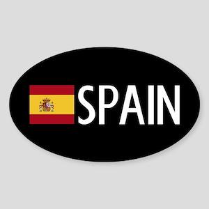 Spain: Spanish Flag & Spain Sticker (Oval)