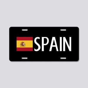 Spain: Spanish Flag & Spain Aluminum License Plate