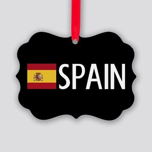 Spain: Spanish Flag & Spain Picture Ornament