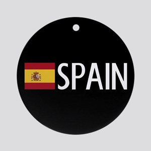 Spain: Spanish Flag & Spain Round Ornament