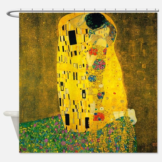 Klimt The Kiss Lovers Shower Curtain