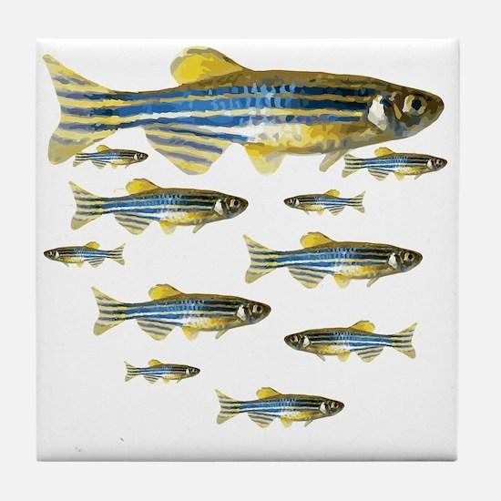 Zebrafish Tile Coaster