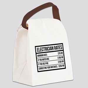 Electrician Rates Humor Canvas Lunch Bag