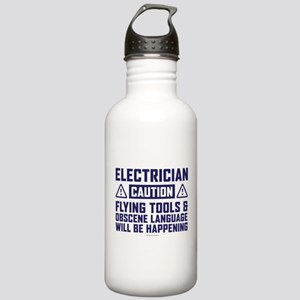 Caution Electrician Stainless Water Bottle 1.0L