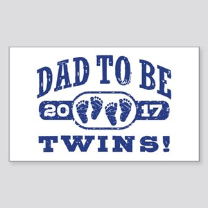 Dad To Be Twins 2017 Sticker (Rectangle)