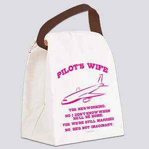 Pilot's Wife Humor Canvas Lunch Bag