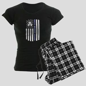 NICU Nurse Flag Women's Dark Pajamas