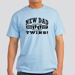 New Dad Twins 2017 Light T-Shirt