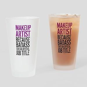 Makeup Artist Badass Drinking Glass