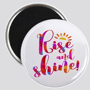Rise And Shine Watercolor Typography Magnets