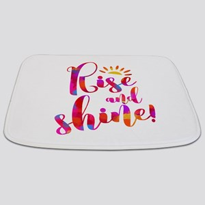 Rise And Shine Watercolor Typography Bathmat