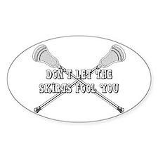 Lacrosse Women Skirts Oval Sticker