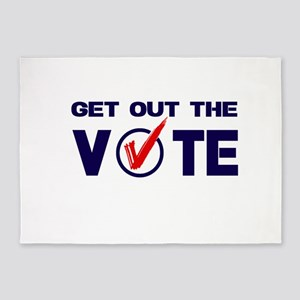 GET OUT THE VOTE 5'x7'Area Rug