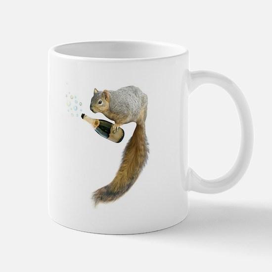 Squirrel Champagne Bubbles Mugs