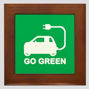 Go Green ~ Drive Electric Cars Framed Tile