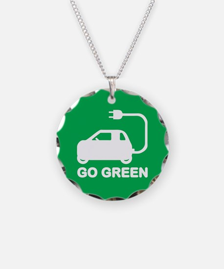 Go Green ~ Drive Electric Cars Necklace