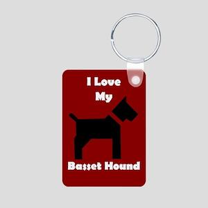 I Love My Basset Hound Dog Keychain Keychains