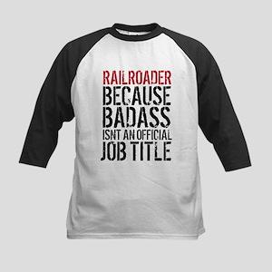 Railroader Badass Job Title Baseball Jersey