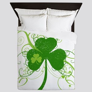 St Paddys Day Fancy Shamrock Queen Duvet