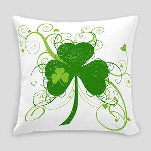 St Paddys Day Fancy Shamrock Everyday Pillow
