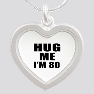 Hug Me I Am 80 Silver Heart Necklace